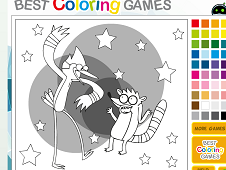 Coloring Mordecai and Rigby