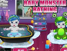Baby Monster Bathing