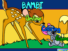 Bambi Online Coloring Game