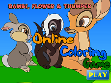 Bambi Flower and Thumber Coloring