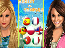 Ashley vs Vanessa Make up