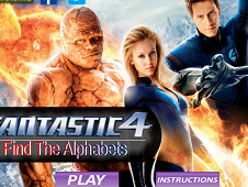 Fantastic Four Find the Alphabets