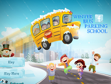 Winter School Bus Parking