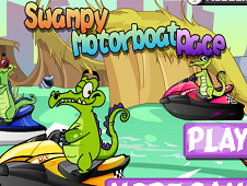 Swampy Motorboat Racing