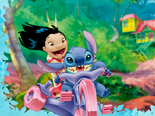 Lilo and Stitch Motorbike Puzzle