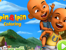 Upin and Ipin Coloring
