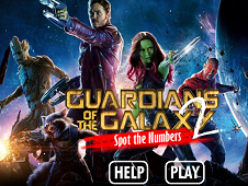 Guardians of the Galaxy 2 Spot the Numbers