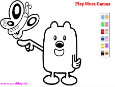 Wubbzy Coloring Game