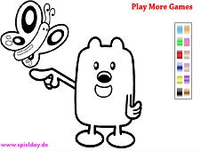 Wubbzy Coloring Game