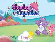 Care Bear Sharing Cupcakes