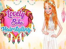Lovely Boho Hairstyling