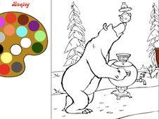 Masha and Bear Coloring