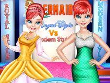 Mermaid Royal Style vs Modern Style