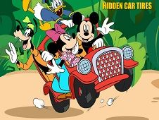 Mickey Mouse Car Hidden Tires
