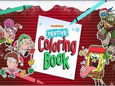 Nickelodeon Festive Coloring Book