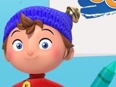 Noddy Toyland Detective Colour In