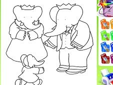 Paint Babar and Family