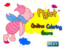 Piglet Online Coloring Game