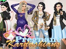 Pregnant Kardashians Dress Up