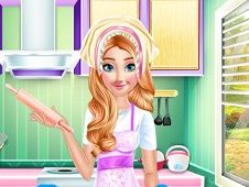 Princess Anna Cooking Cake