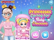 Princesses Caring for Baby Princesses