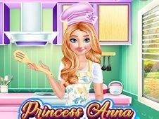 Princess Anna Cooking Cake