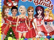 Princesses Christmas Card Decoration
