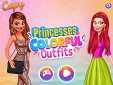 Princesses Colorful Outfits