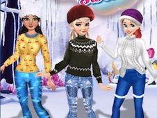 Princesses Cute Winter Sweater