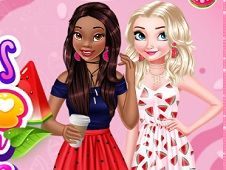 Princesses Love Watermelon Manicure
