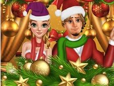 Rapunzel and Flynn Christmas