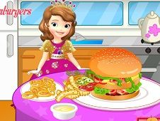 Sofia Cooking Hamburger