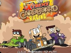 The Loud House Extreme Cardboard Racing