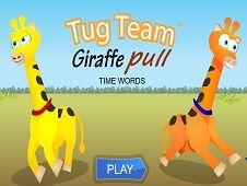 Tug Team Giraffe Pull