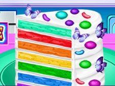 Vincy Cooking Rainbow Cake