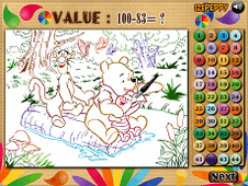 Winnie Colormath Game