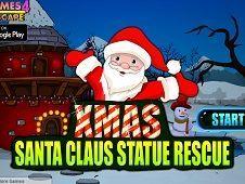 Xmas Santa Statue Rescue
